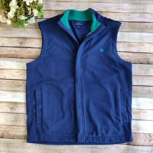 Brooks Brothers Men's Blue Fleece Vest Size L